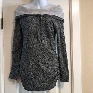 Derek Heart Grey Sweater L/S Dress/Tunic- Med